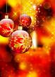 Weihnachtskugel - Hintergrund mit Kerze