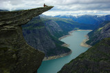 Picturesque Norway landscape.Trolltunga