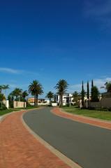 Street of Luxury Houses