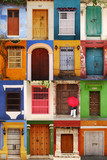 Doors of Cartagena de Indias, Colombia poster