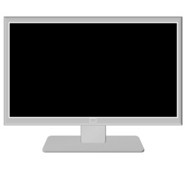 gray tv with a black screen