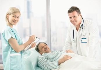 Portrait of doctor, nurse and patient