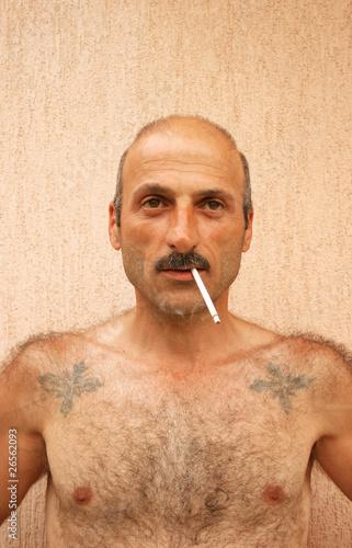 Leinwandbild Motiv Smoking man
