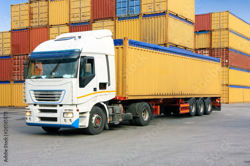 truck and containers