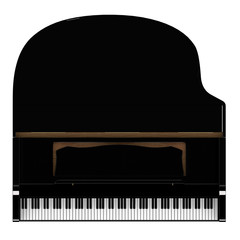 Piano (top view)