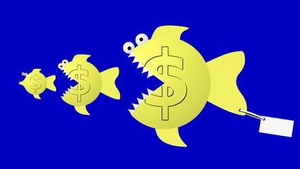 Fish eat fish: dollar eat dollar