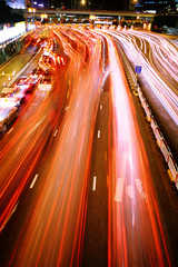 hong kong traffic night