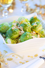 Crisp-topped brussels  sprouts for Christmas