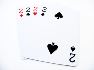 Four Twos Playing Cards