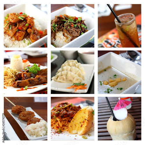 Fusion Food Collage
