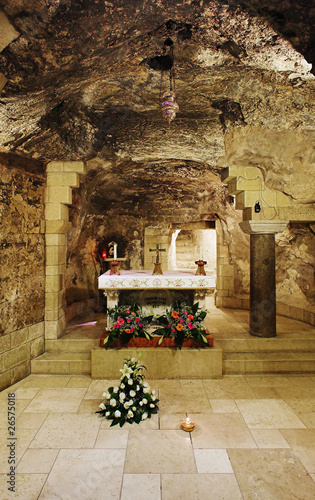 Grotto of Virgin Mary in the Basilica of Annunciation, Nazareth