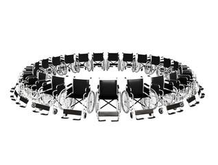 sedie a rotelle in circolo