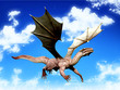 dragon flying out