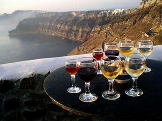 Santorini Greek Island  Wine testing in Greece