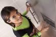 Woman drinking soma fresh water
