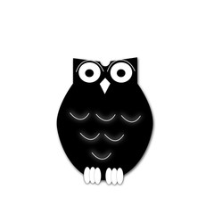 Wise owl isolated on white background