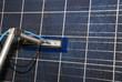Reinigung von Solarmodul