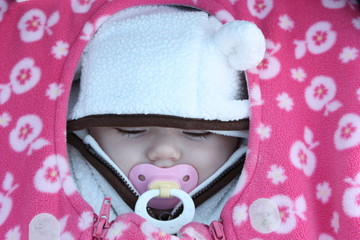 Bundled Sleeping Baby