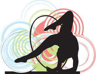 Acrobatic girl illustration