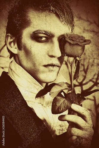 Fototapeten,mann,halloween,vampier,blut