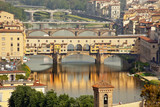 Ponte Vecchio Covered Bridge Arno River Florence Italy poster