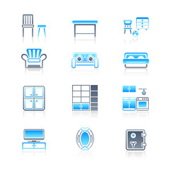 Home furniture icons | MARINE series