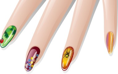 Unghie Decorate-Nail Art-2-Vector