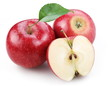 Two red apple and half of red apple.