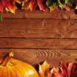 roleta: background with colored leaves on wooden board