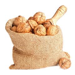Burlap Sack Of Walnuts
