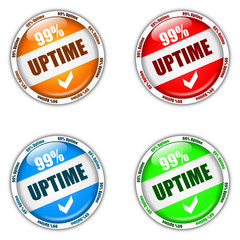 99% Uptime Buttons