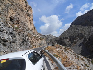 Straßen in Kreta