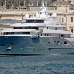 grey yacht