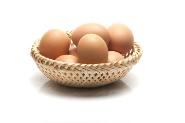 eggs in wicker basket