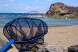Fangnetz am Strand