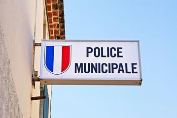 Panneau police municipale