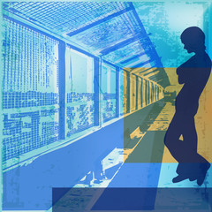 Urban Blues Vector Background