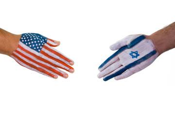 America Israel handshake