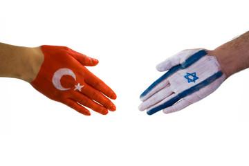 Turkey Israel handshake