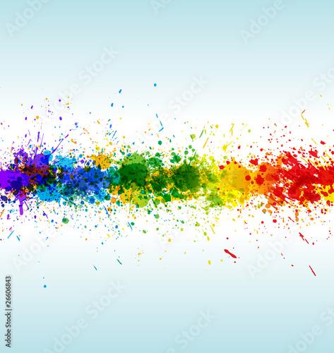 Color paint splashes. Gradient vector background
