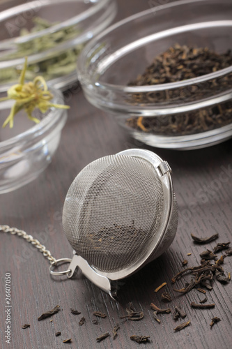 Still life with tea infuser