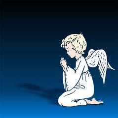 Engel betend 3d