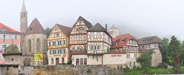 Morgennebel - Altstadt Schwäbisch Hall