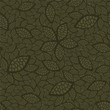 Seamless green leaves wallpaper