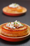 Blini with cottage cheese