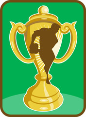 rugby championship trophy cup player passing
