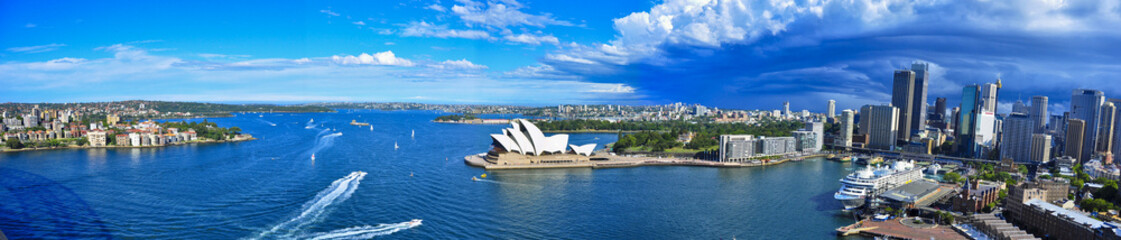 Panorama of Sydney Harbor. Sydney, Australia