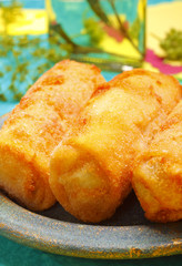 Croquettes on plate