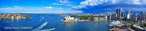 Panorama of Sydney Harbor. Sydney, Australia