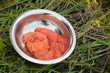 Fresh salmon red caviar (pink salmon)